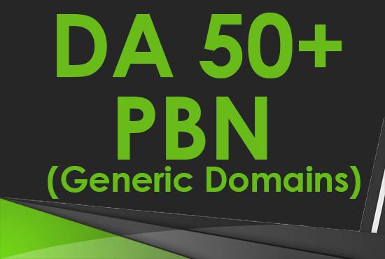 Create 6 DA 10 to 20+ Homepage PBN Post Backlinks