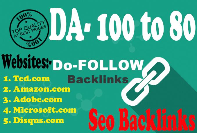DA 80+ 50 High PR Profile Creation Seo Backlinks