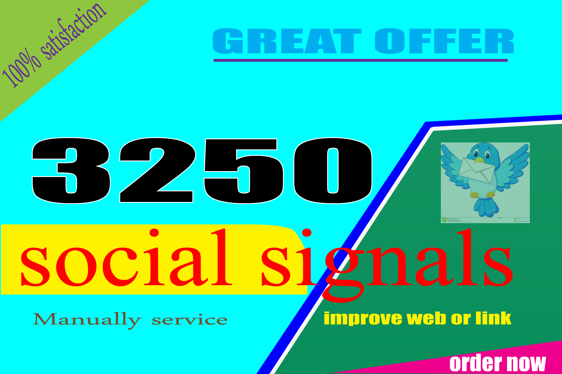 I Created to Benifited Great offer 3250 Seo Social Signals improving Mixed Backlinks
