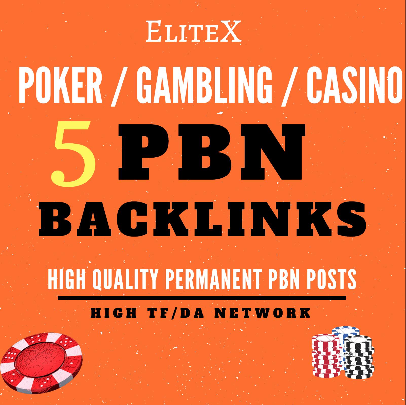 5 High DA/TF Permanent Homepage JUDI BOLA / POKER / CASINO / Gambling PBN