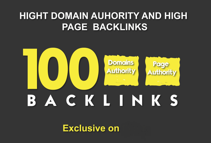 100 HPR Domain Authority SEO Backlinks For increase your Web Ranking