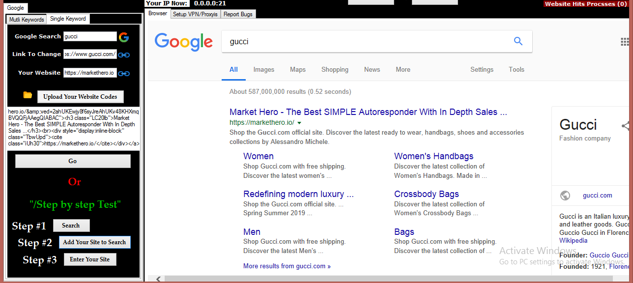 Get on the 1st Page of Google with - Google Search Ranker V1.0