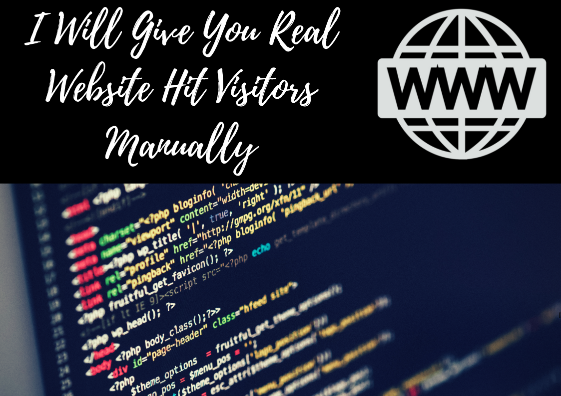 Real Website Hit Visitors Manually