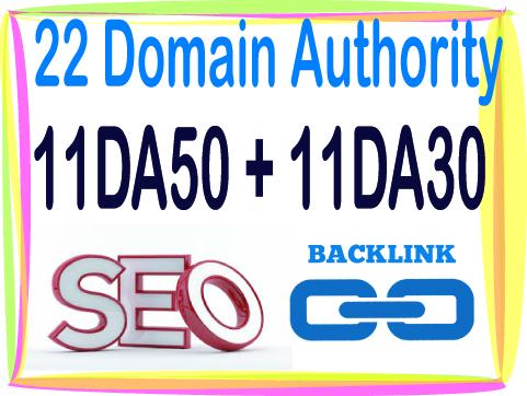 Get 22 DA Domain Authority 11 DA50 - 11 DA30-High Qua...