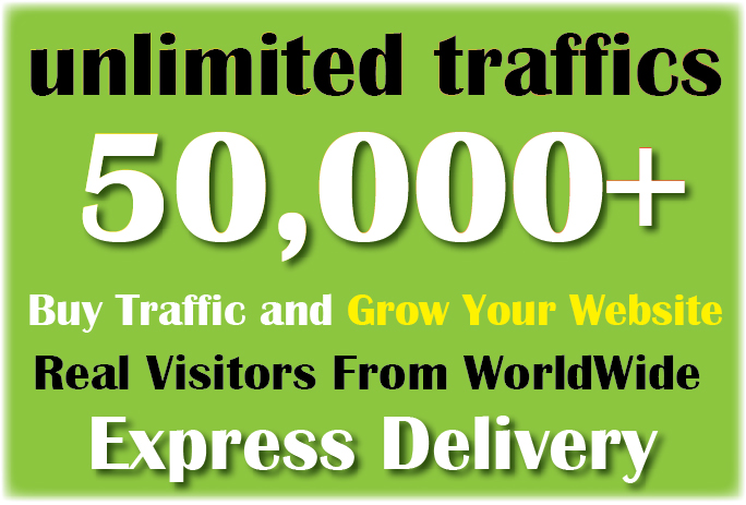Drive 50k+ or 50000 + REAL Human Worldwide Website Traffic Or Visitors To Your Blog
