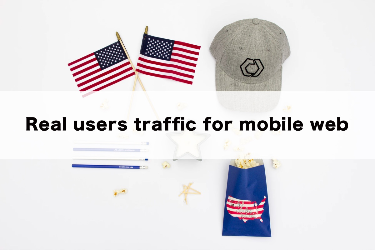 Real users traffic for mobile web