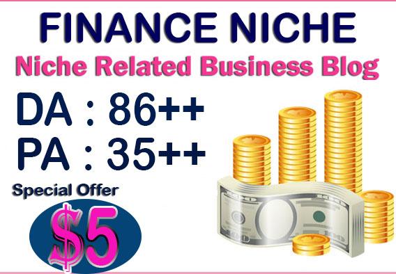 Put Your Link On DA86X6 Finance site permanent Blogroll