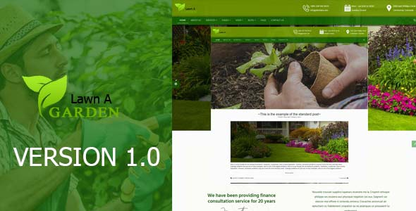 lawnAgarden - A landscaping template Theme