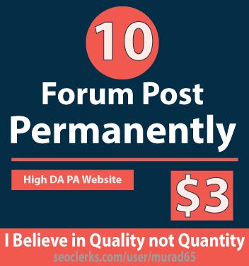 Forum Post Permanently 10 Forum Post 100 Percent Work...
