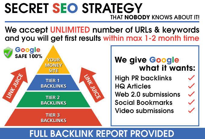 Powerful SEO Safe Backlinks Pyramids Total 4k Links for Skyrocket Your Website Global Ranking