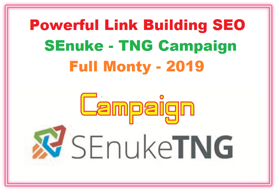 Powerful Link Building SEO SEnuke TNG Campaign Full Monty 2020