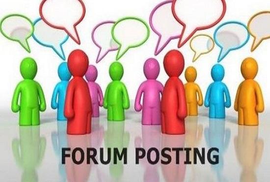 give you 5 dofollow forum backlink