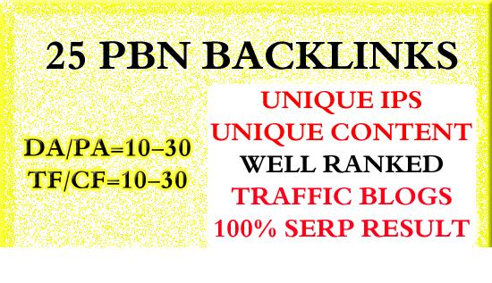25 Homepage Pbn Backlinks High Tf Cf Da Pa Private Blog Network