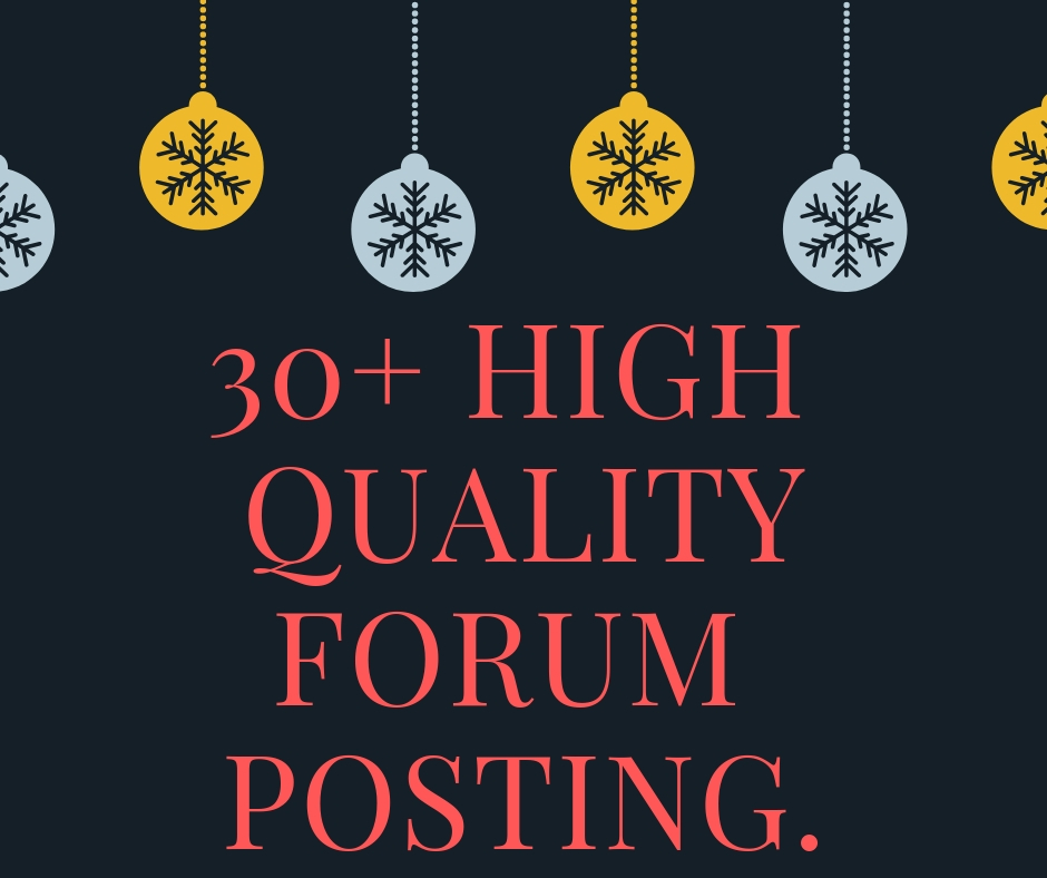 30+ high Quality Forum Posts On Your Forum