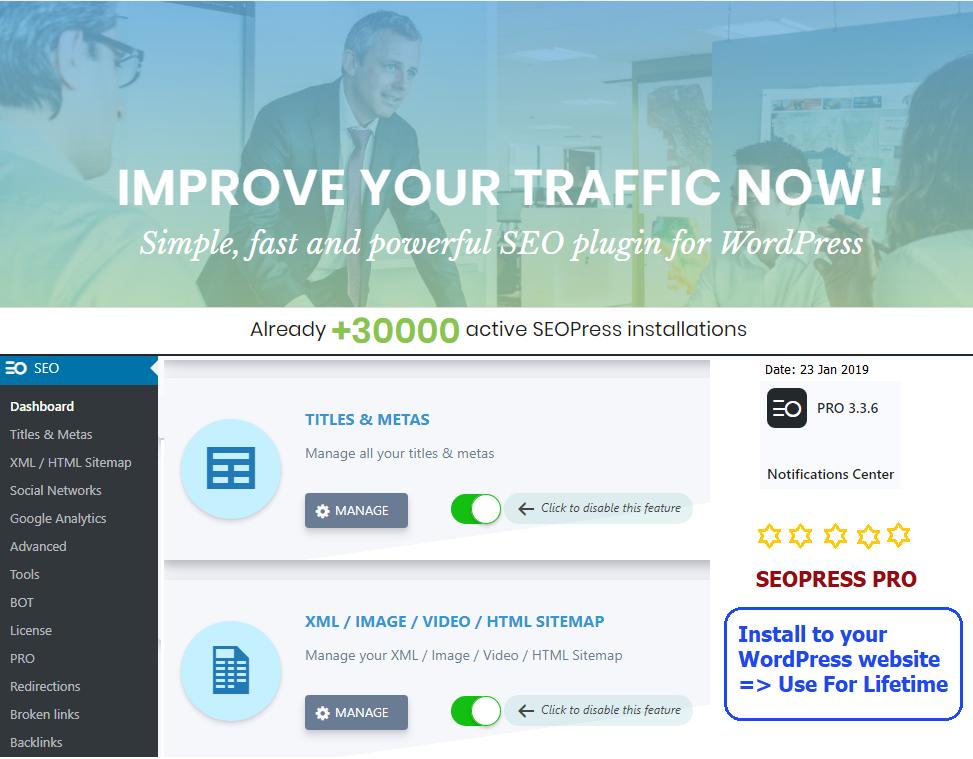 Installing SEOPress Pro On WordPress With Lifetime Up...