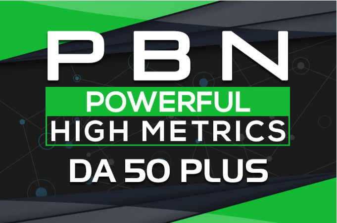 build 80 manual da 50 plus homepage pbn post backlinks promotion
