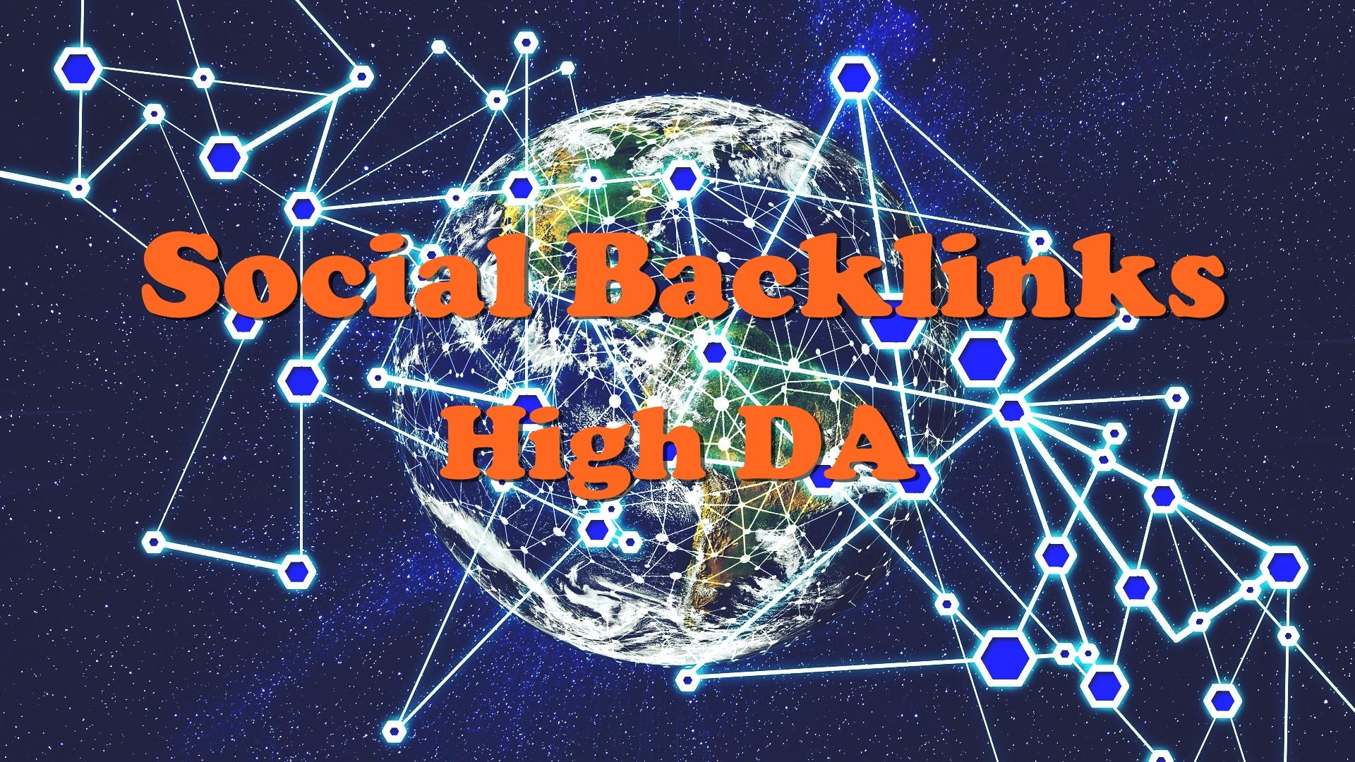 Manual 20 Social Backlinks High DA and Dofollow