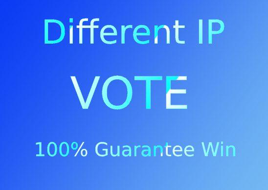 Get 200 Different IP votes in your online contest