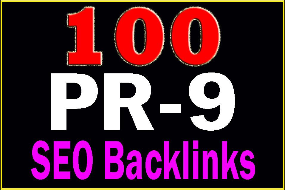 I give you 100 high PR DA 50+ quality manual SEO backlinks