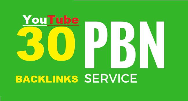 30-Youtube-PBN-Backlinks-using-High-PA-DA-sites