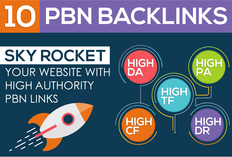 Provide 10 High DA PA Permanent Homepage Pbn Backlinks