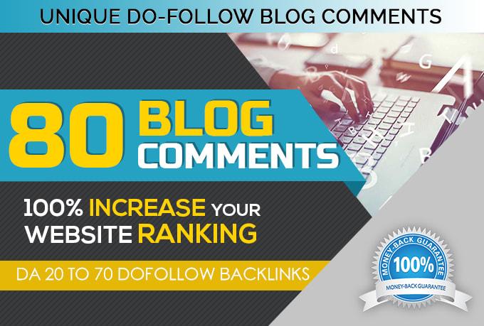 Do 80 Unique Domain Blog Comment