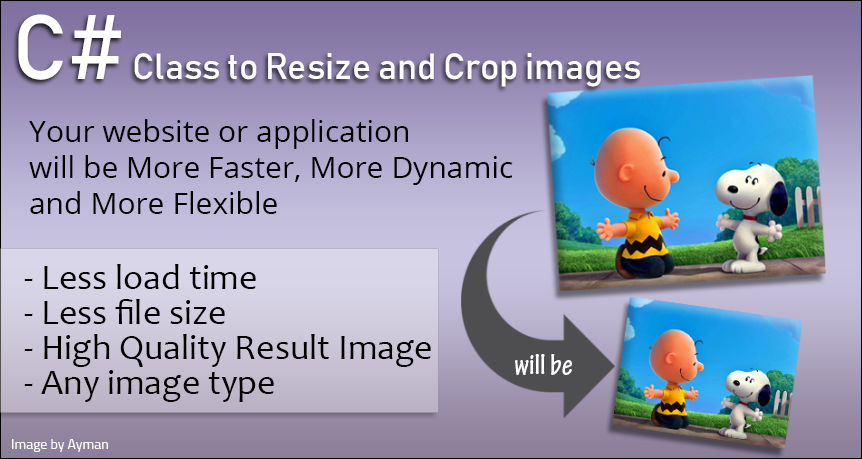 Resize and crop images - high end quality C Sharp Cla...