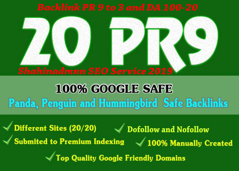 20 Unique Domains Manual Backlinks DA100-20
