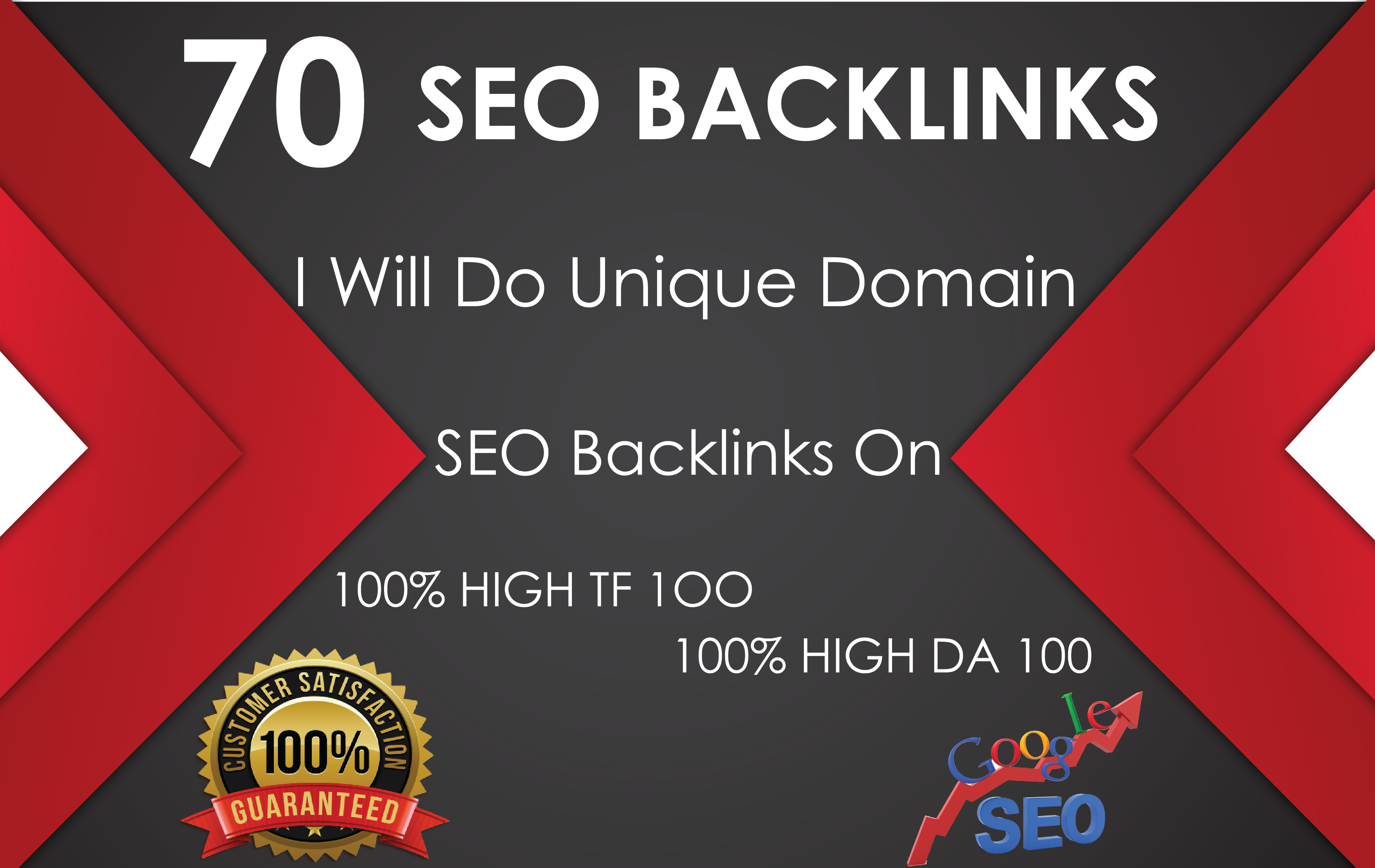 Do 70 Unique Domain SEO Backlinks On Tf100 Da100 Sites