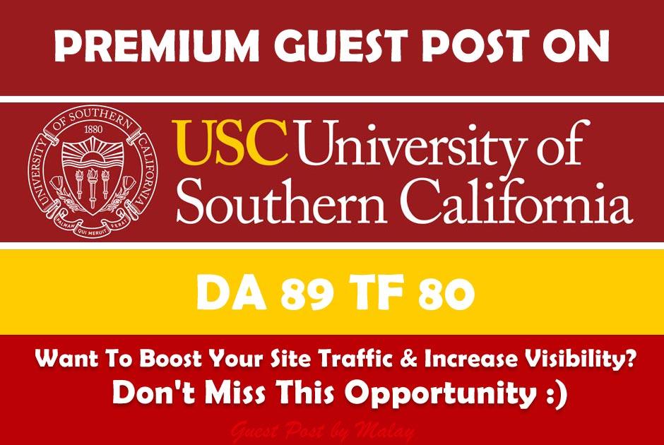 Guest post on California Edu University Blog - usc. edu - DA 89