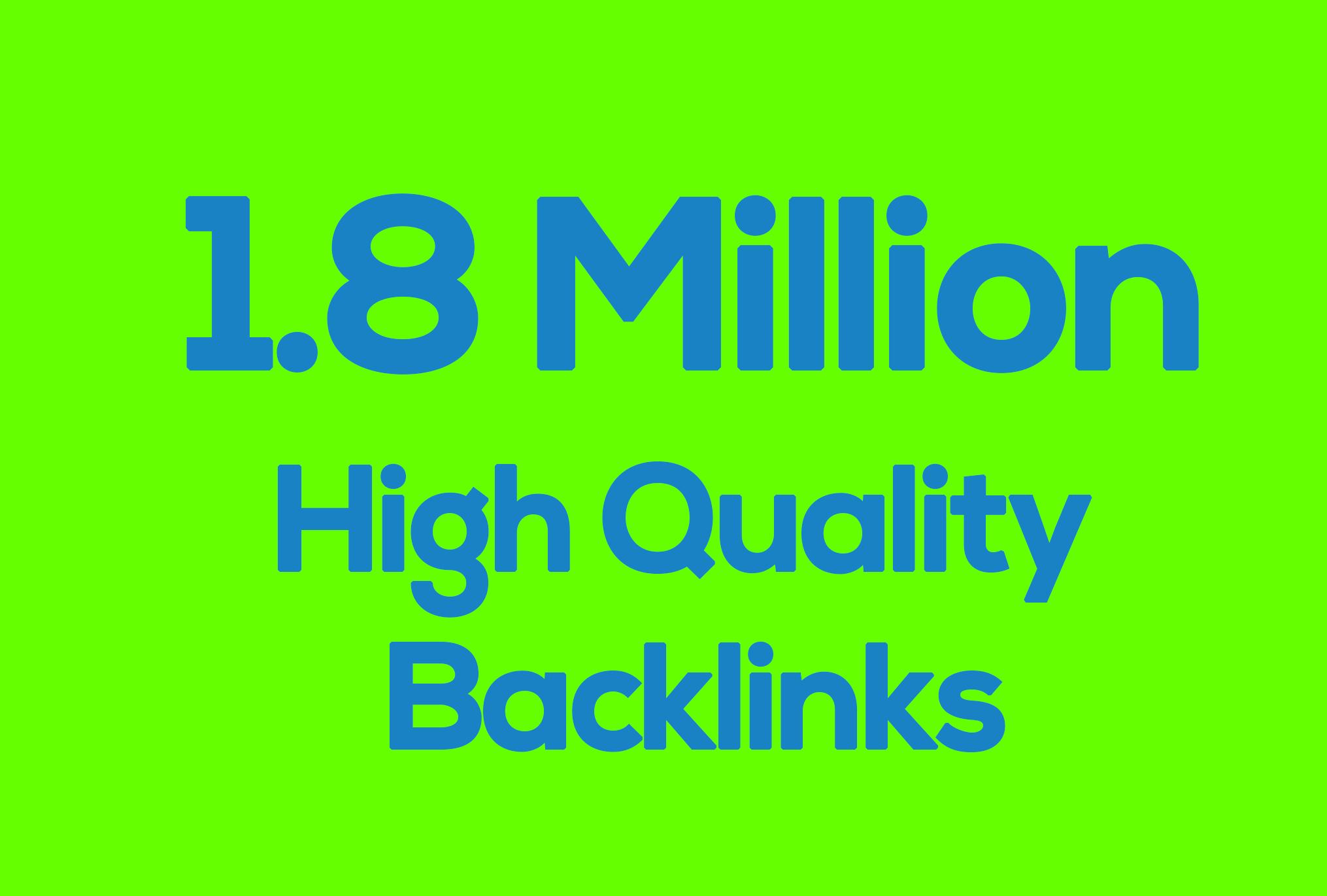 1.8 Million High quality GSA SEO Backlinks