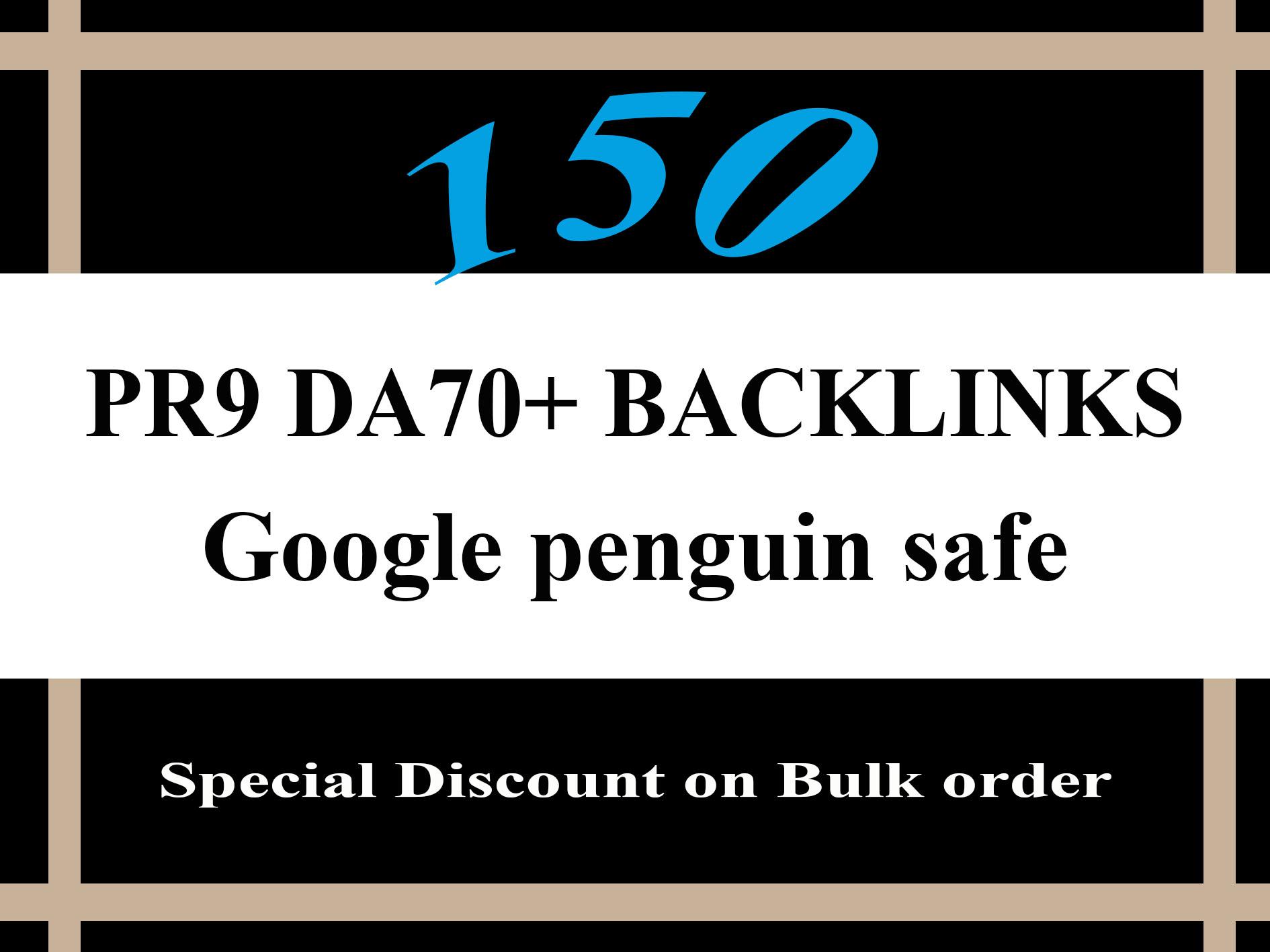 You will get 50 Da70 High Authority SEO Friendly Backlinks