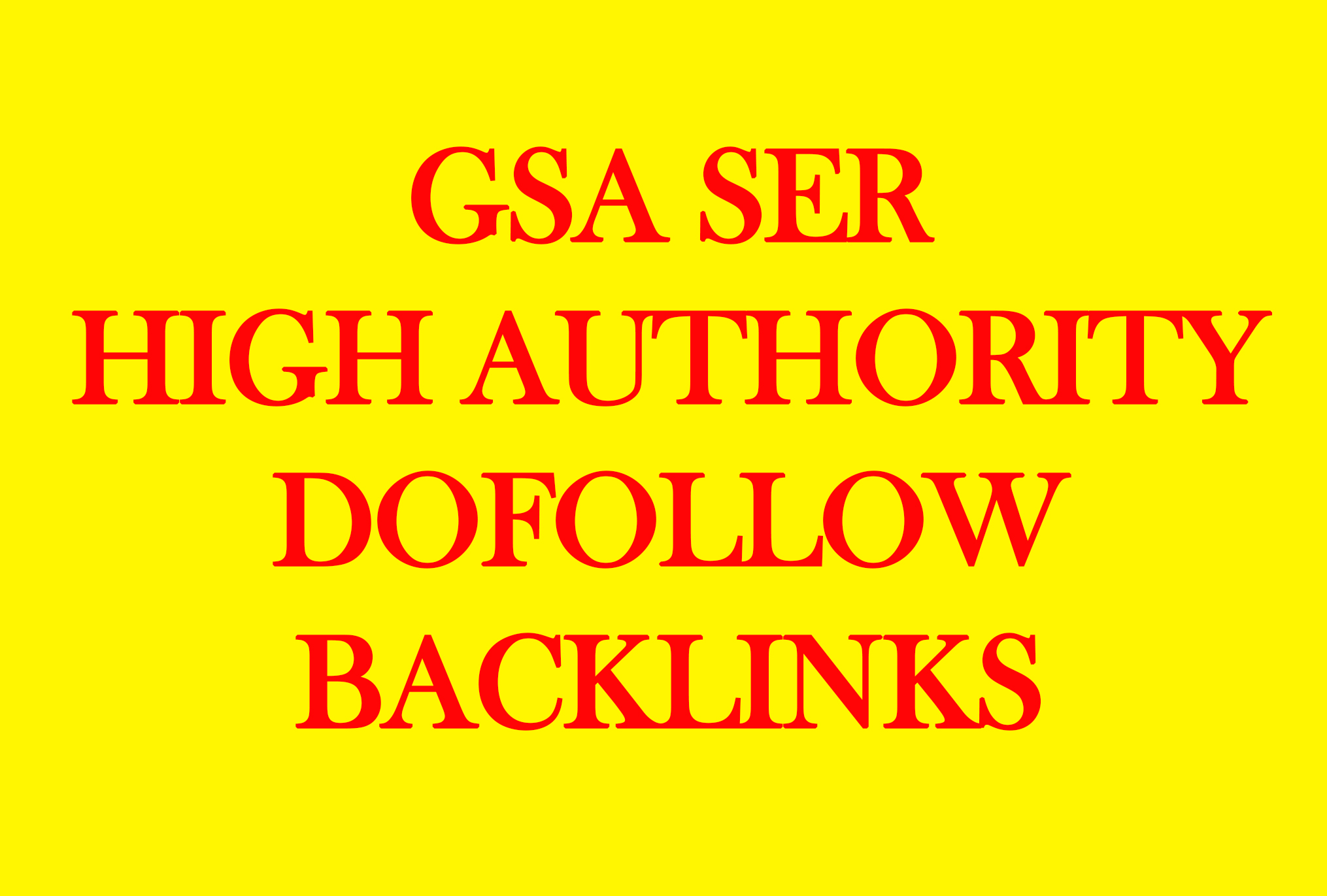 SEO 1 Million GSA Dofollow links for Boosting Raning in Google SER