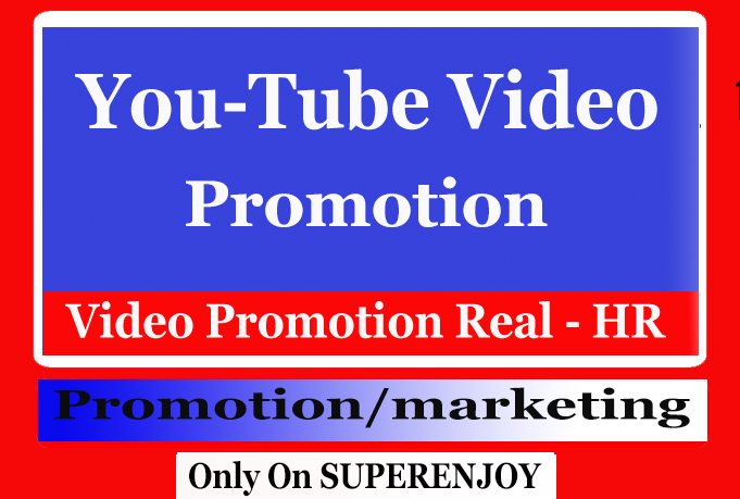 Real YouTube Video Promotion or Marketing with Active Users Leading to Amazing Results