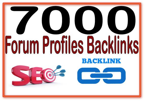 Create 7000 Forum profiles Highly Authorized Google D...