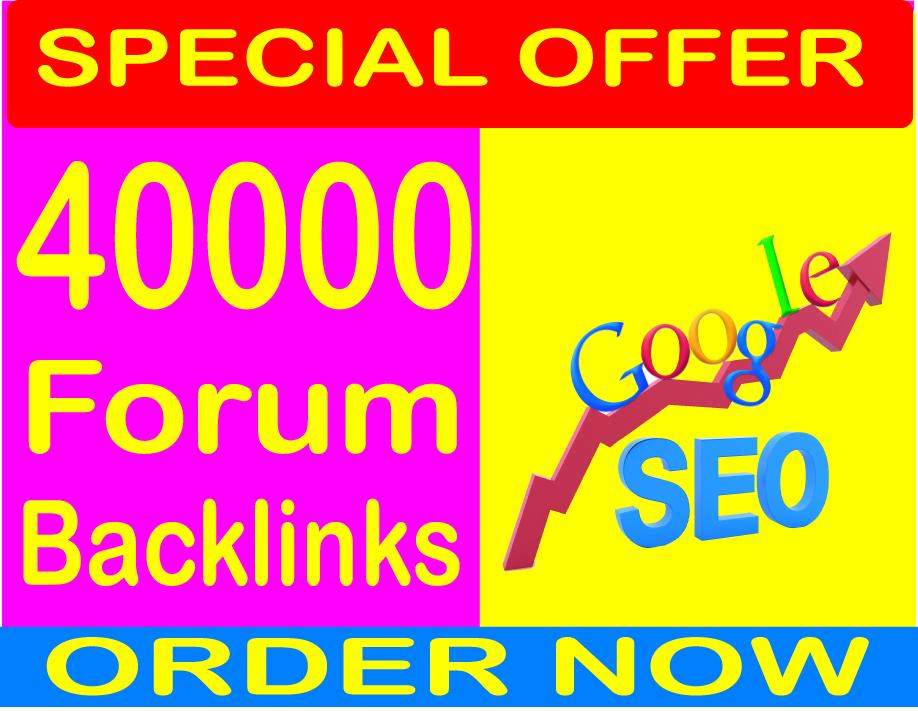 40,000 GSA SER Forum Backlinks for your Link or websi...