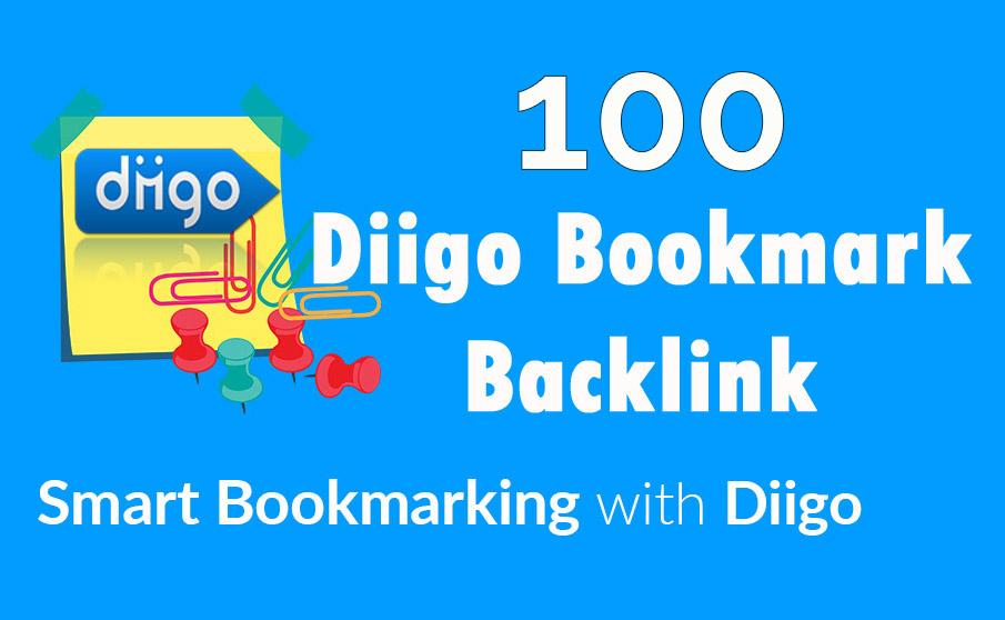 Diigo High Quality 100 Bookmark backlink PR8-9 Google...