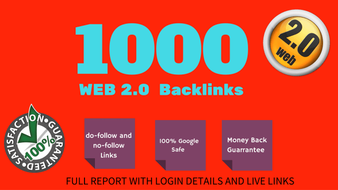 Provide 1000 High quality web2 backlinks