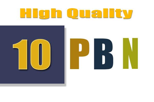 10 Manually PBN Homepage Backlinks HQ Speed