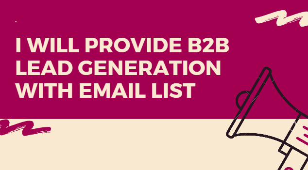 Collect B2B Lead Generation, Data Entry With Email L...