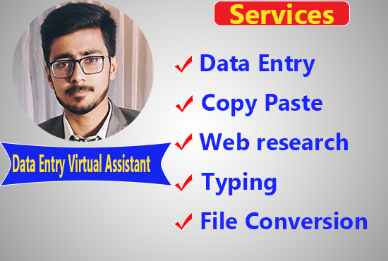 Complete Any Type Of Data Entry Work Within 24 Hour