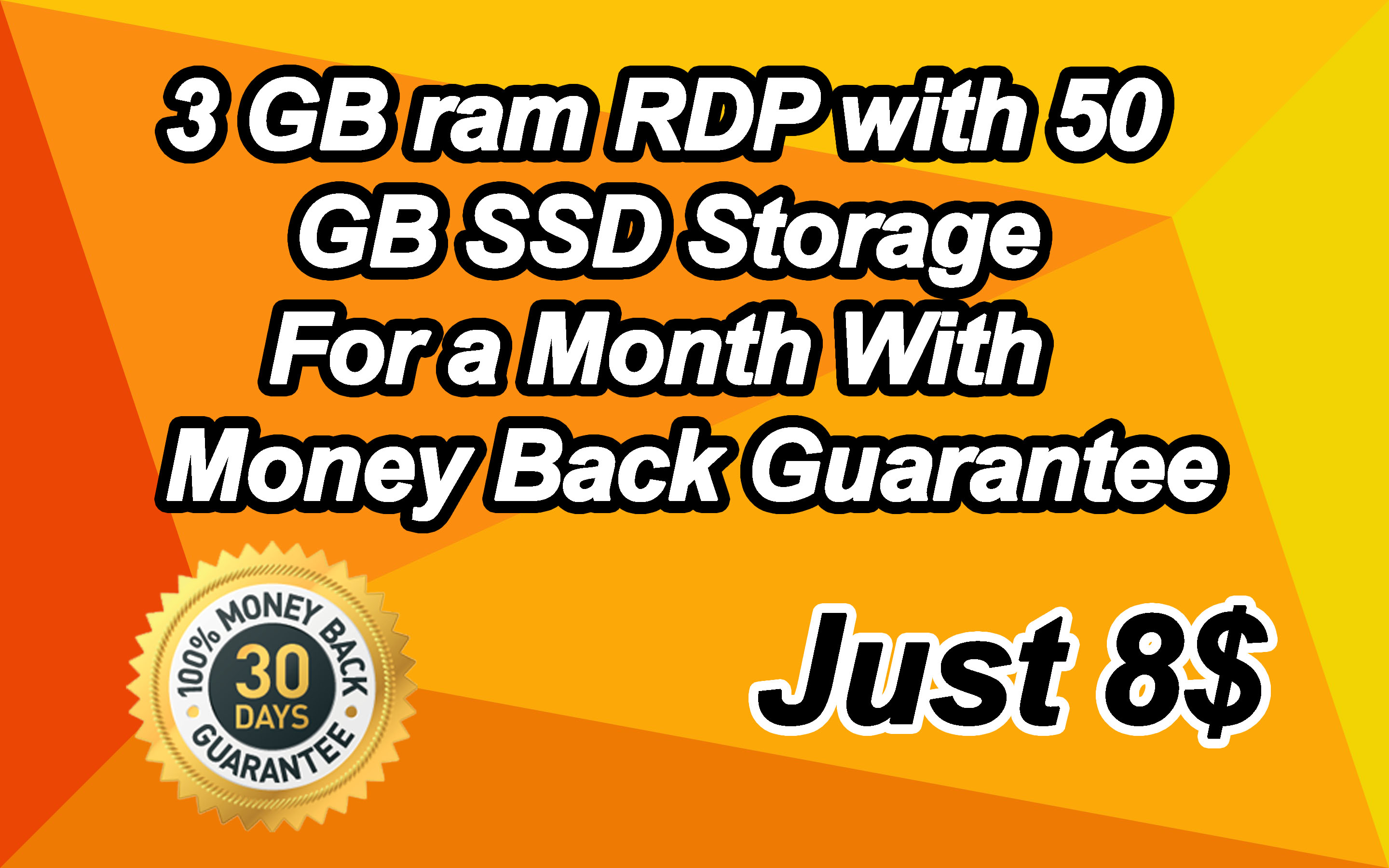 3 GB ram RDP with 50 GB SSD Storage For a Month With ...