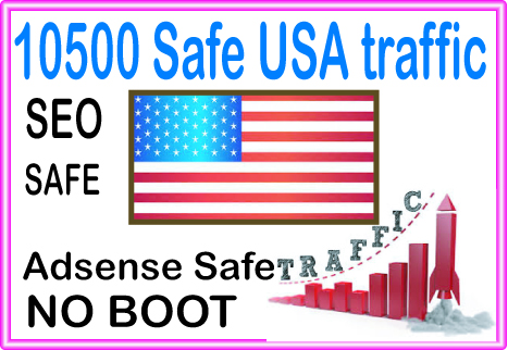 Do 10500 USA Safe Human Traffic from social & org...