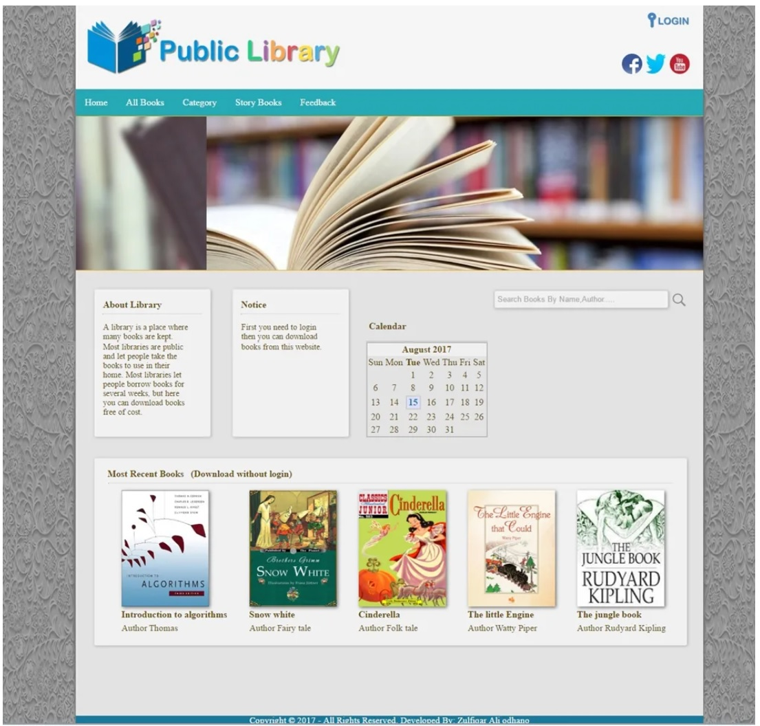 Digital Library Web Application