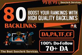 Build 80 Unique Domain SEO Backlinks On Tf100 Da100 Sites