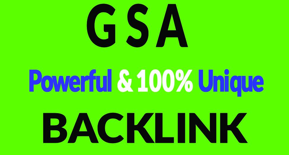 SEO 800K GSA Dofollow links for Boosting Raning in Google SER