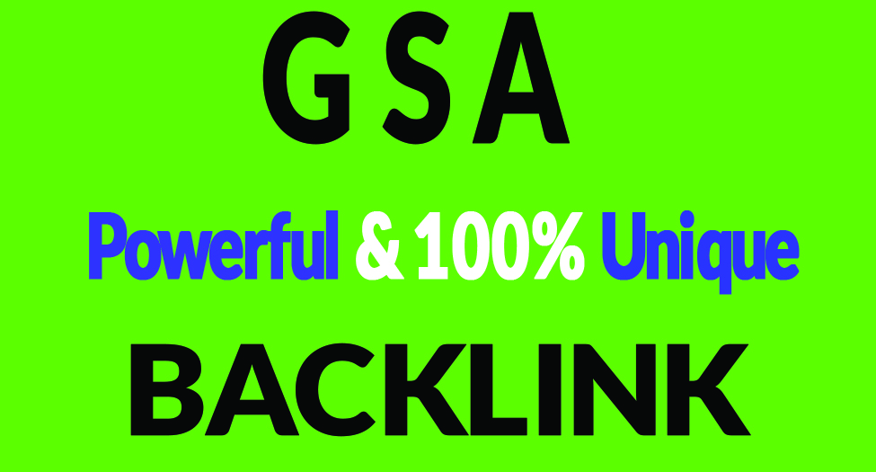 10, 00,000 GSA SER Dofollow Backlinks