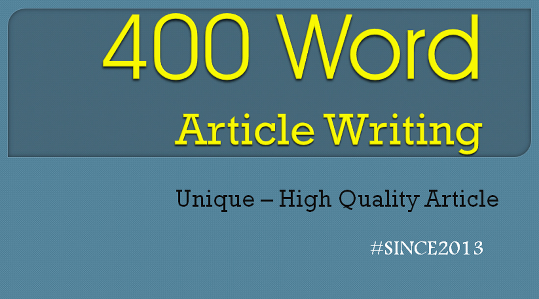 2x400 Words article Exclusive Price