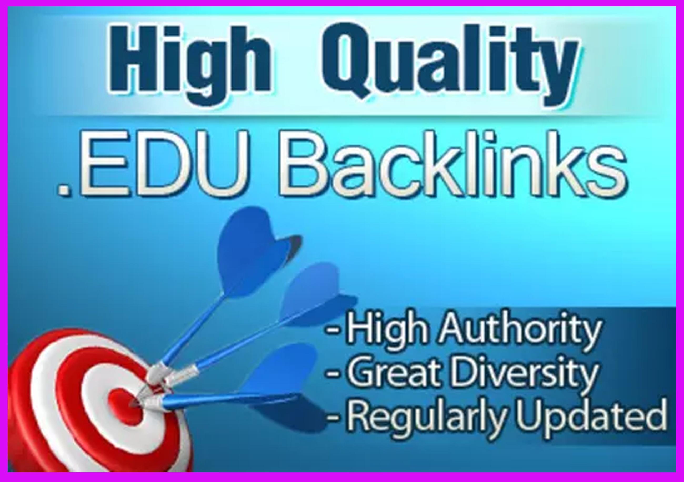High Authority 300 EDU. Gov. Backlink