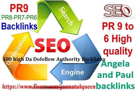 Manual create 30 high da dofollow authority backlinks